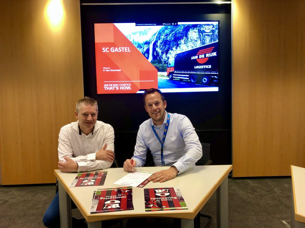 Jan de Rijk Logistics en SC Gastel sluiten sponsorovereenkomst.