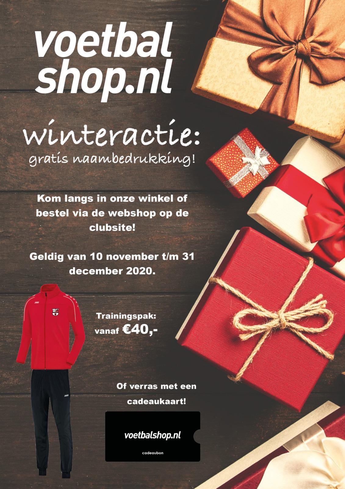 Winteractie voetbalshop.nl