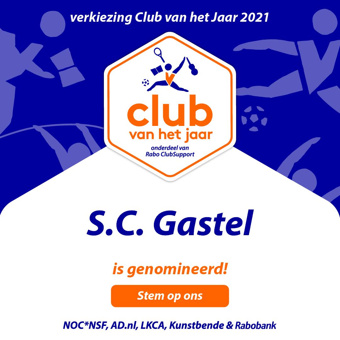 Stem op SC Gastel voor Club van het Jaar verkiezing!