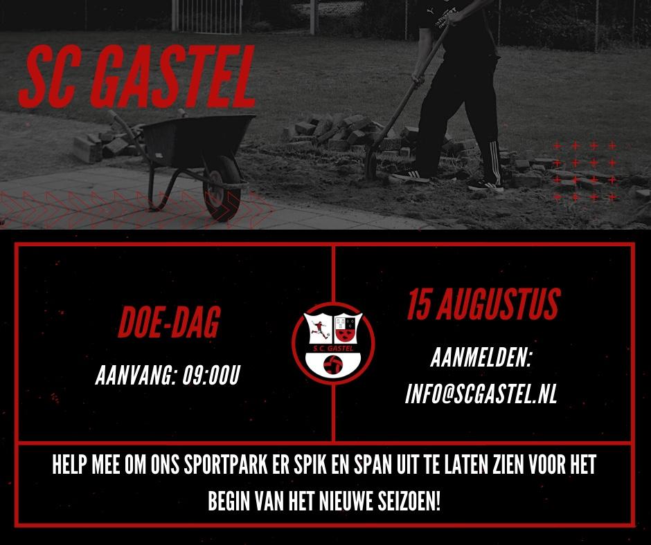 Doe-dag bij SC Gastel 15 augustus 2021