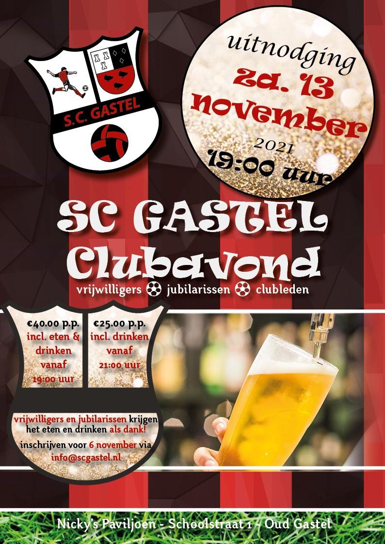 Uitnodiging clubavond 13 november 2021